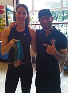 Here's one of my favorite clients, two-time Olympic medalist, Emma Robinson.